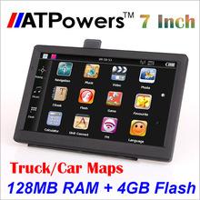 5pcs/lot 7 inch auto Navi car GPS  Navigator 800M/ FMT/128MB 4GB flash MP3 MP4 game navagation free New 2015 Maps(China (Mainland))