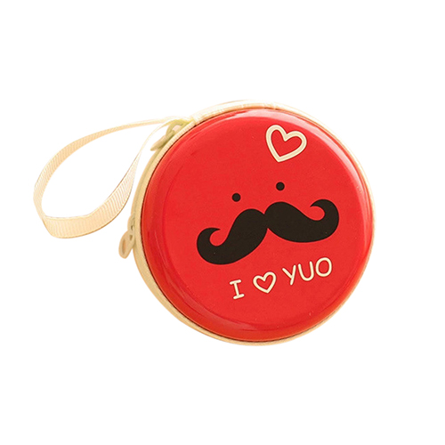 Round Mustache Coin Purse Earphone Key Case Zip Storage Bag Pouch Mini Wallet  2016 Hot<br><br>Aliexpress