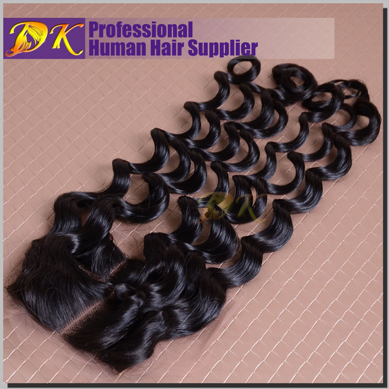 Free Style Lace Closure Malaysian Virgin Hair Loose Water Wave Lace Closure 4x4 Lace Top Closure density 130% free shipping<br><br>Aliexpress