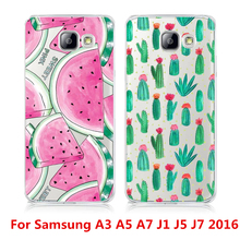 High quality Fruit Watermelon Cactus Printed Case Samsung Galaxy A3 A5 A7J1 J5 J7 (2016) A310 A510 A710 J120 J510J710 Cover