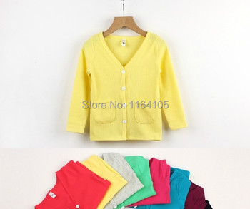 Promotion!!Free shipping Kid's Knit shirt whoesale&retail cotton material children outerwear wholesale boy&girl children coat