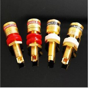 Need a new monster plated copper speaker terminals can be mounted 20mm thick casing 4 for only $ 6(China (Mainland))