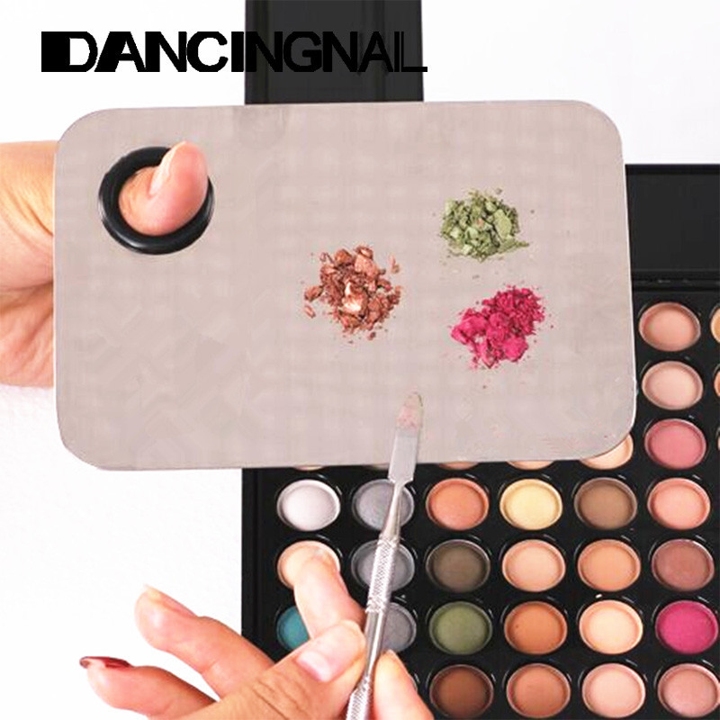 Cosmetic Nail Makeup Mixing Palette Spatula Tool High Quality Professional Stainless Steel Hands-free Matte Packaging(China (Mainland))
