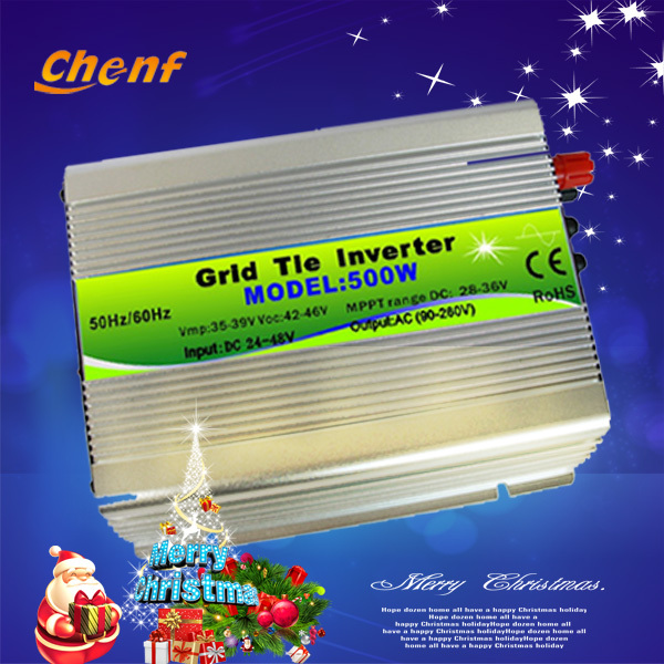 ( Freight free ) Factory direct sale Home use AC 90-260v 500W Solar On Grid Inverter for PV Power , grid tie inverter(China (Mainland))