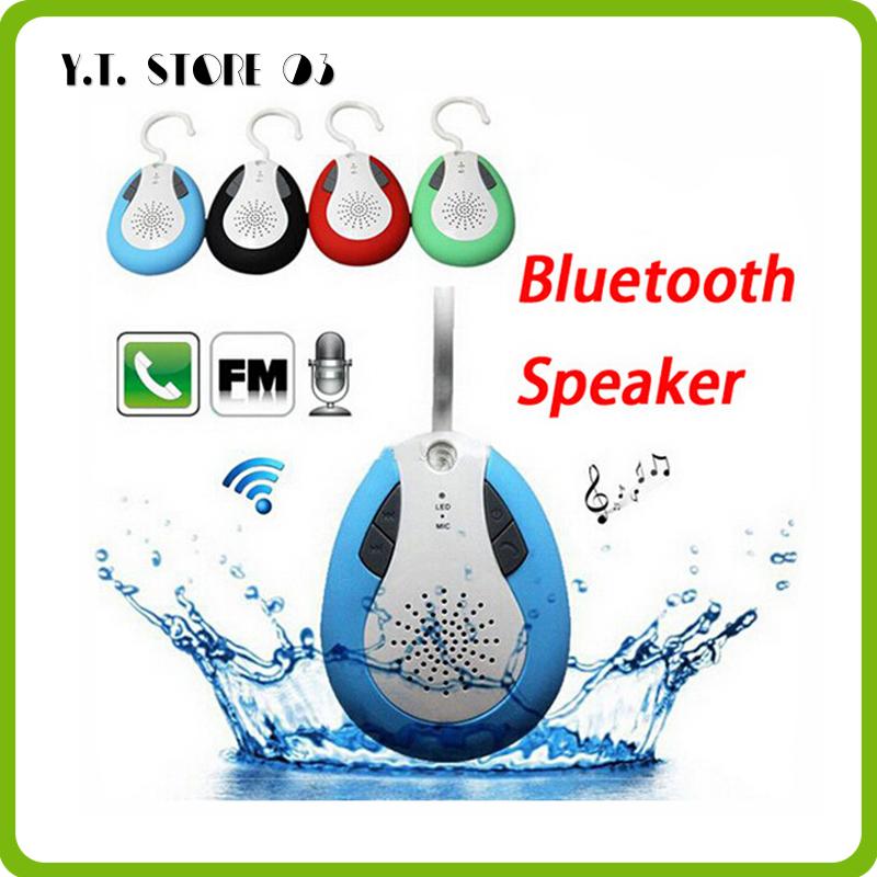 2014 newest waterproof FM radio shower bluetooth portable speaker with Retail box handfree music loudspeakers(China (Mainland))