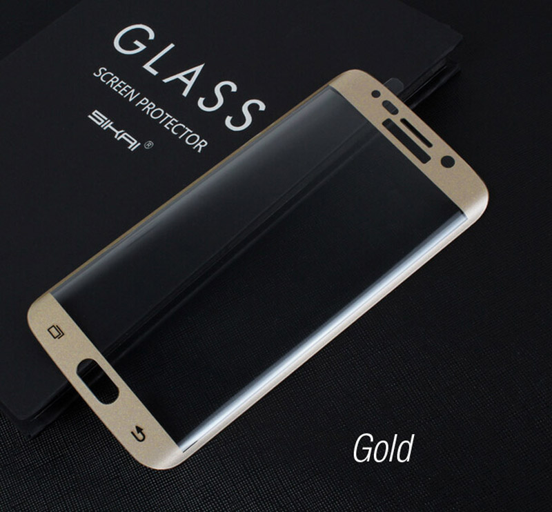 Full Screen super thin 9H 2.5D Hard Tempered Glass Protector film Front Protective Phone For Samsung Galaxy S6 edge