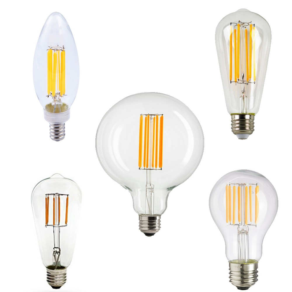 dimmable c35 a19 st58 st64 g95 t45 edison led vintage filament bulb retro lamp e26 e27 base 110v. Black Bedroom Furniture Sets. Home Design Ideas