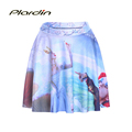 Drop shipping 2016 Fashion Women Elegant Snow White Queen vicious SKATER SKIRTS LIMITED Digital Print Fairy
