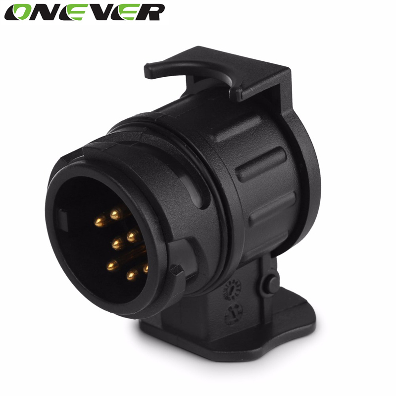 13 To 7 Pin Plug Adapter Trailer 12V Towbar Towing Caravan Truck Cable Wiring Electrical Converter Plastic Connector Black Color(China (Mainland))