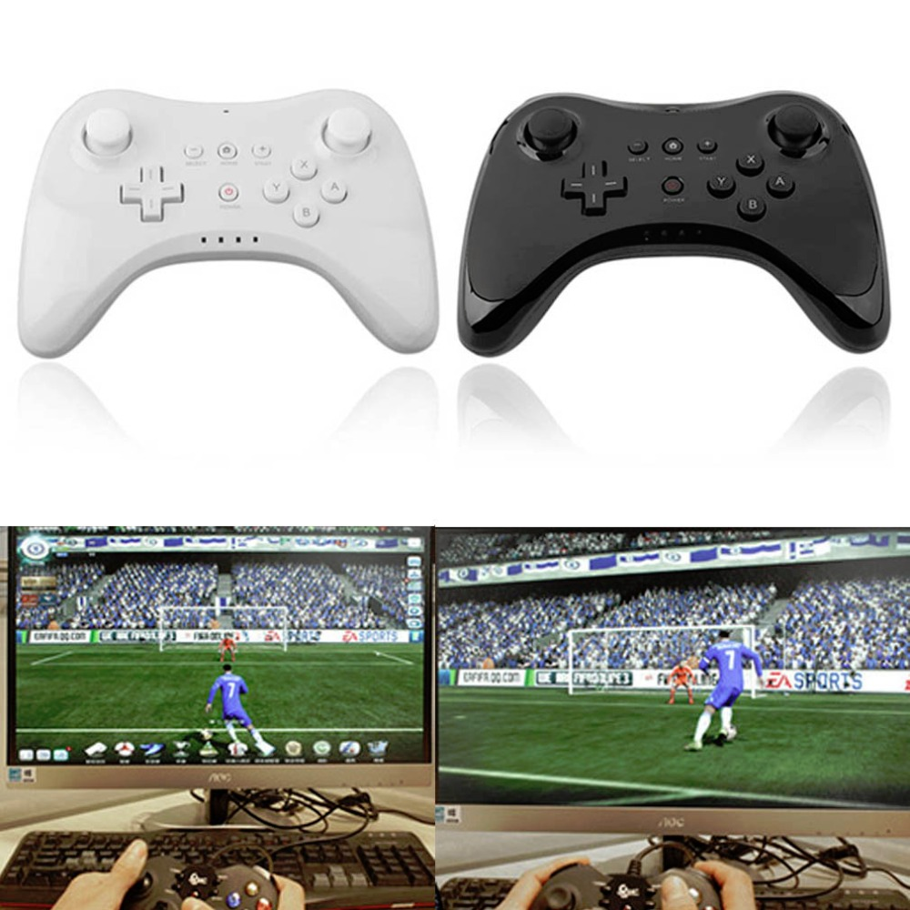 Classic Dual Analog Bluetooth Wireless Remote Controller USB U Pro Game for for Nintendo Wii White Black hot new(China (Mainland))