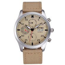 New Arrival EYKI Brand Automatic Mechanical Watches Men Luxury Brand Sport Watch Fabric Band Years Month
