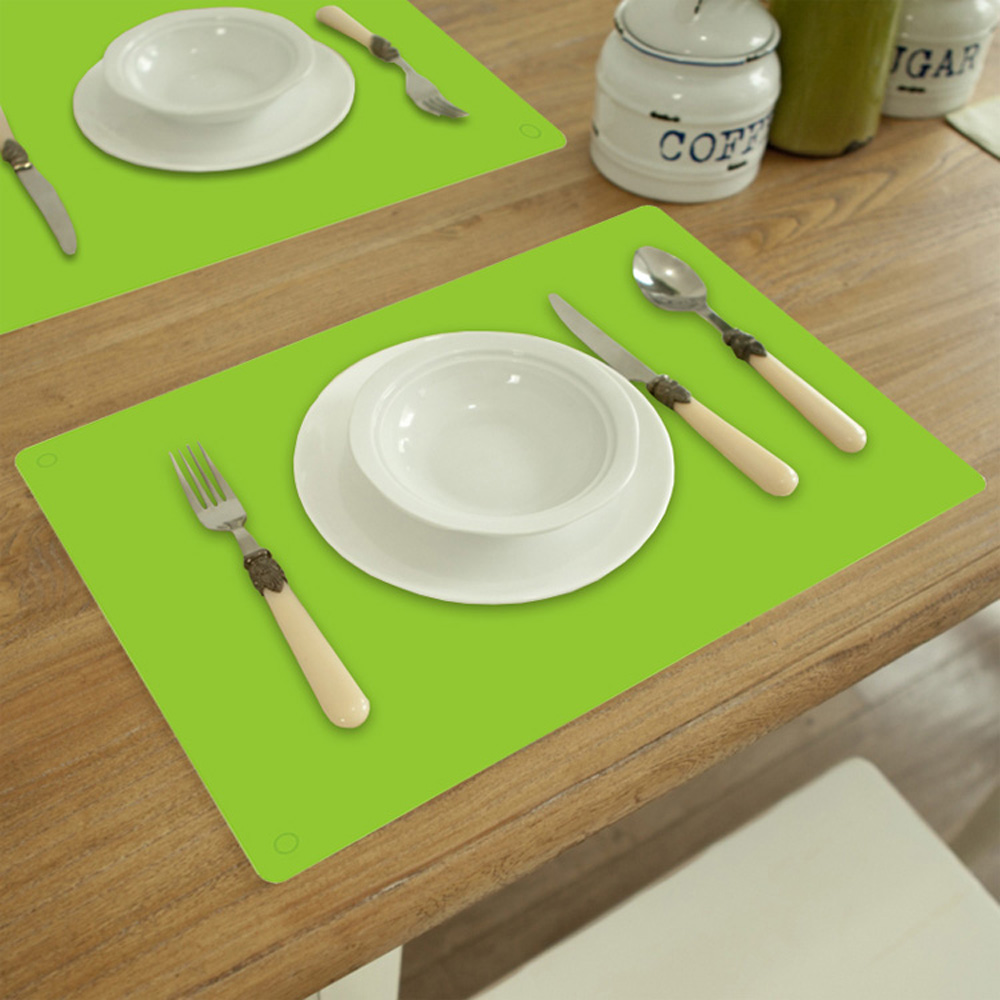 1pcs Rectangle Silicone Placemat Table Mat Pad Tableware Dinnerware Dining Bar Heat Resistant Mat Kitchen Accessories 40*30cm(China (Mainland))