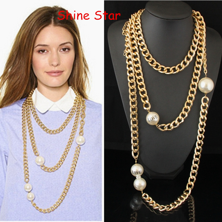 Large Chunky Fashion Necklaces Fashion Multi layer Chunky