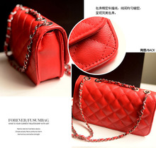 Lattice Women Bag PU Leather Bag Mini Chain Women Messenger Bags 100PCS lot