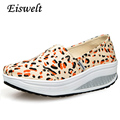 2016 Platform Women Shoes Spring Loafers Casual Flats Print Creepers Breathable Canvas Shoes Woman High Quality