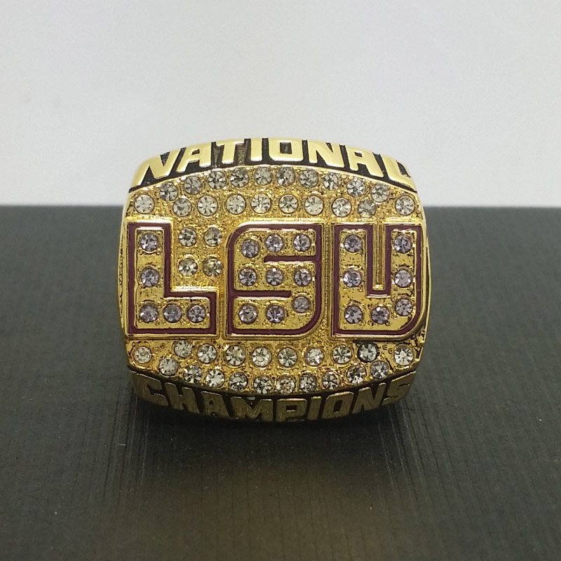 Solid 2003 Louisiana State University LSU Tigers NCAA National College Football Championship Copper Ring 8-14Size<br><br>Aliexpress