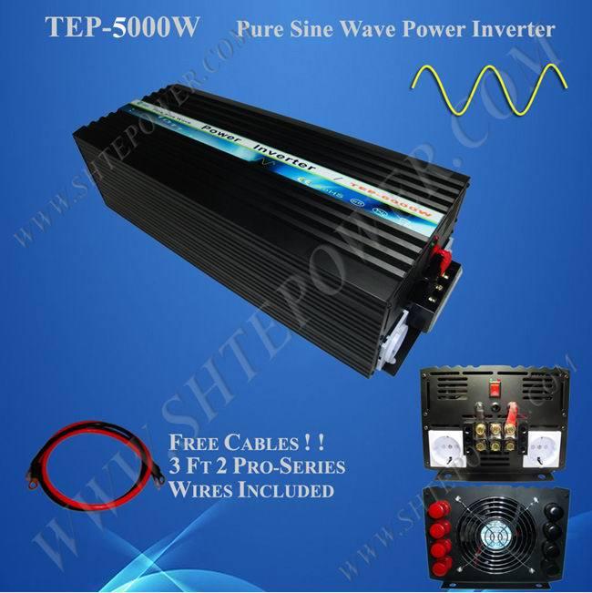 dc 12v/24v to ac 110v/120v/220v/230v/240v 5000w power pure sine wave inverter(China (Mainland))