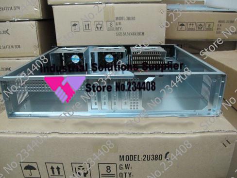 2u serve Firewall Storage 2u Chassis PC power supply 380 short case Aluminum panel(China (Mainland))