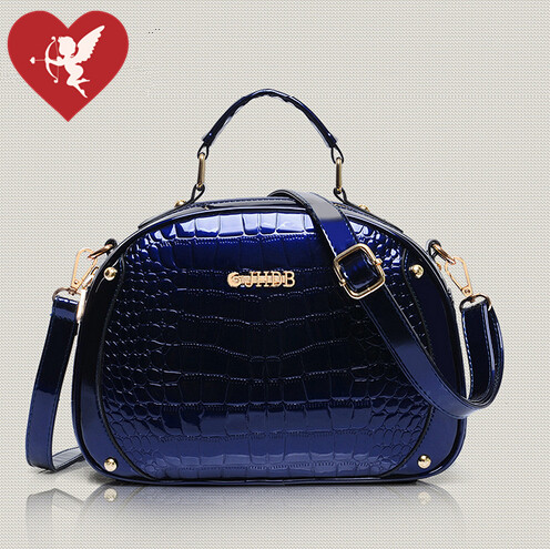 New Arrival Women Handbags Fashion Alligator Patent Leather Messenger Bags High Quality Cross-body bags Tote 0.7/2(China (Mainland))