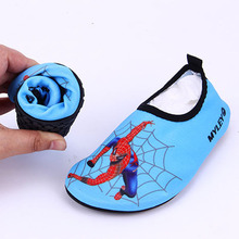 2016 Quick Dry Children Boys Shoes Beach Sneakers Kids Anti-slip Swimming Shoes Pool Kids Shoes Boy Folded Girl Shoes SpiderMan(China (Mainland))