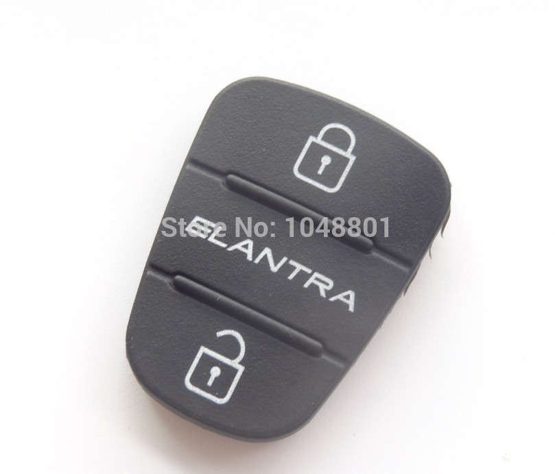 Replacement 3 button key Pad for Kia Hyundai Elantra Button Remote flip Key Shell Blank Fob Cover Rubber Pad