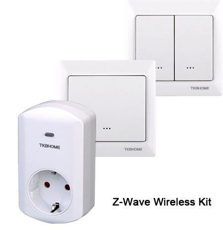 TKBHOME Z-wave On/off switch kits (1xGerman socket,2XWall switch) free shipping to Europe