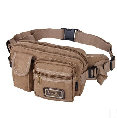 !Hot-selling Multifunctional Casual Canvas Waist Pack Outdoor Sports Bags E550 - Fiona's Wallet and Bag Store store