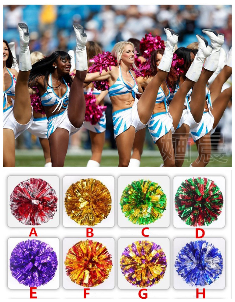 Free Shipping Rose mix Gold All Star first single paragraph cheerleading pom pon Cheerleading cheer supplies#1838(China (Mainland))