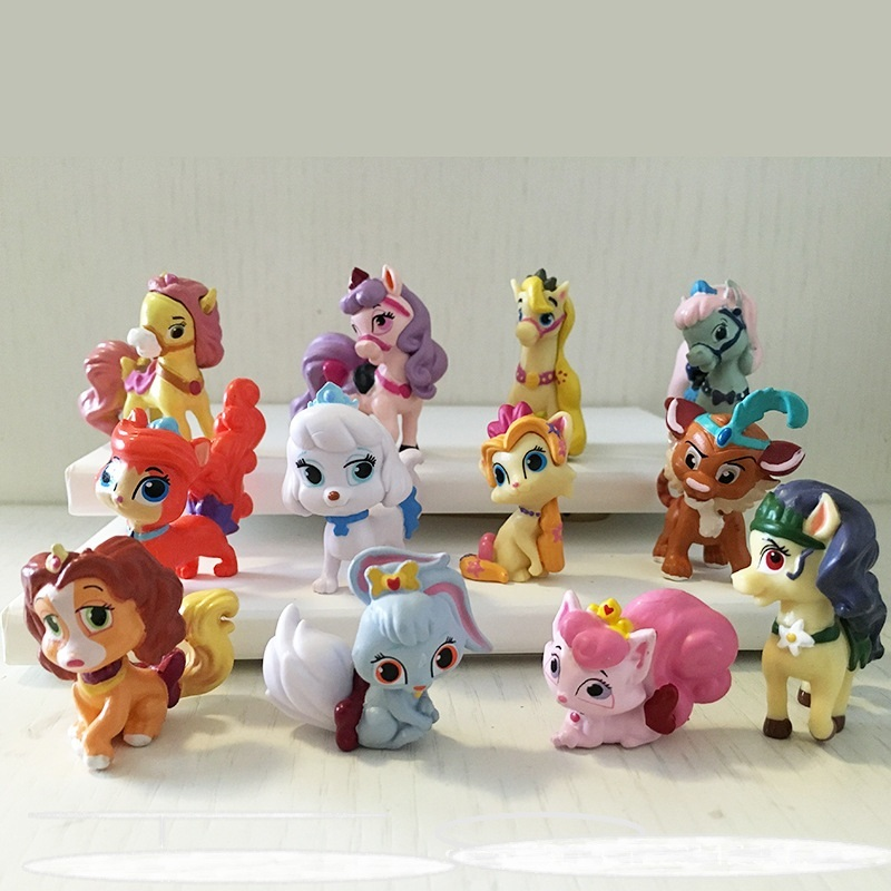 2016 new Littlest Pet Shop 12 pieces of Action Cute dog Q rabbit Dolls PVC ACGN figure Brinquedos Anime 4-6CM dragon ball(China (Mainland))
