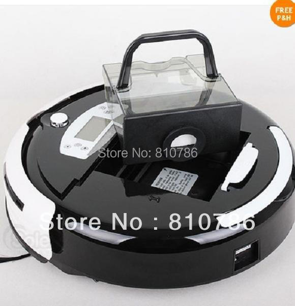 Biggest Dust Bin 0.7L Vacuum Cleaner Intelligent + Auto Recharged +Virtual Wall+Moping+UV lights(China (Mainland))
