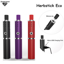 2015 New Arrival Herbstick Eco dry herb Vaporizer 2200mah Temperature Control Airflow Hole Mini Vape Pen Herbal e cigarette Kit(China (Mainland))