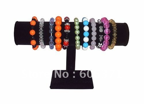 Black Bracelet T-Bar Jewelry Watch Display Stand Rack