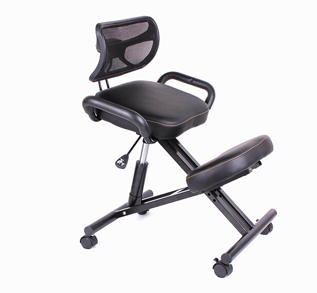 Ergonomically Designed Knee Chair With Back And Handle Office Kneeling Chair Ergonomic Posture
