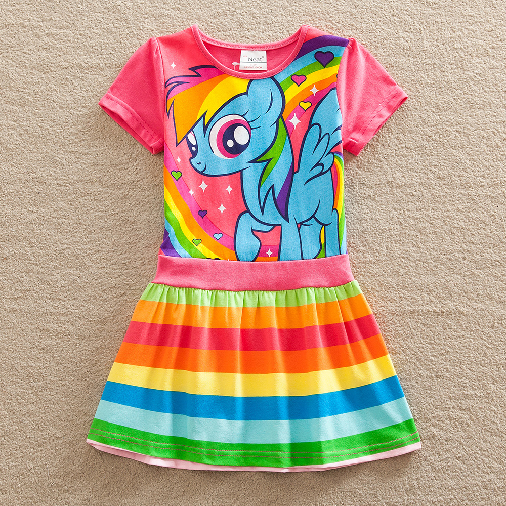 Retail Baby girl dress my little pony summer cotton child dress girl wear kids clothes children dress baby girls clothes SH6218(China (Mainland))