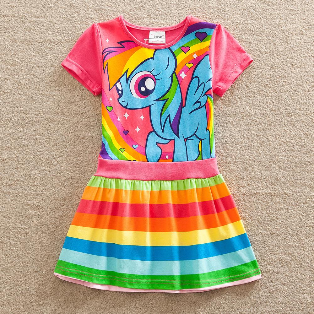 Retail Baby girl dress my little pony summer cotton child dress girl wear kids clothes children dress baby girls clothes SH6218(China (Mainland))