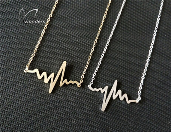 Fashion Jewelry 2015 Divergent Heartbeat Necklace Environmental Protection Stainless Steel Gold Silver Plated Ornaments<br><br>Aliexpress