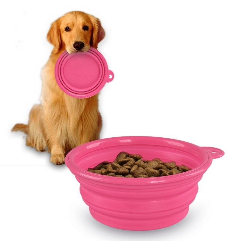 Eco-Friendly Pet Products Silicone Bowl Pet Folding Portable Dog Bowls For Food Dog Drinking Water Bowl Pet Bowls(China (Mainland))