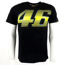 New car MOTOGP46 rossi chest big logo motorcycle racing leisure Polyester short sleeve T-shirt(China (Mainland))