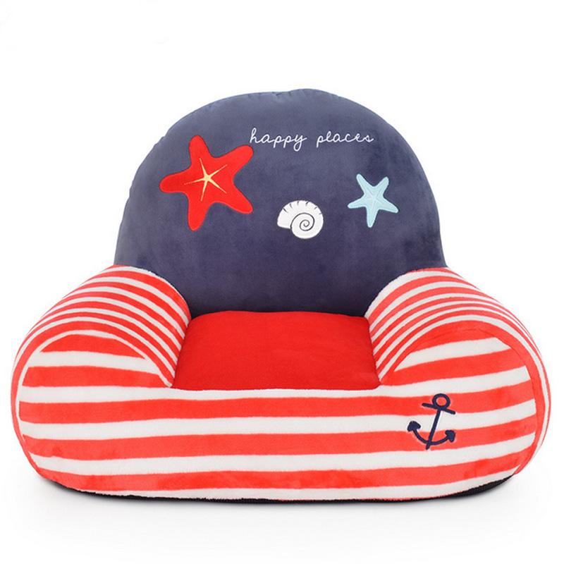 Hot Sale Toddler Baby Cute Sofa Children Lovely Animal Cartoon Pattern Beanbag Plush Toys Seat Kids Sleeping Bed Home Decoration