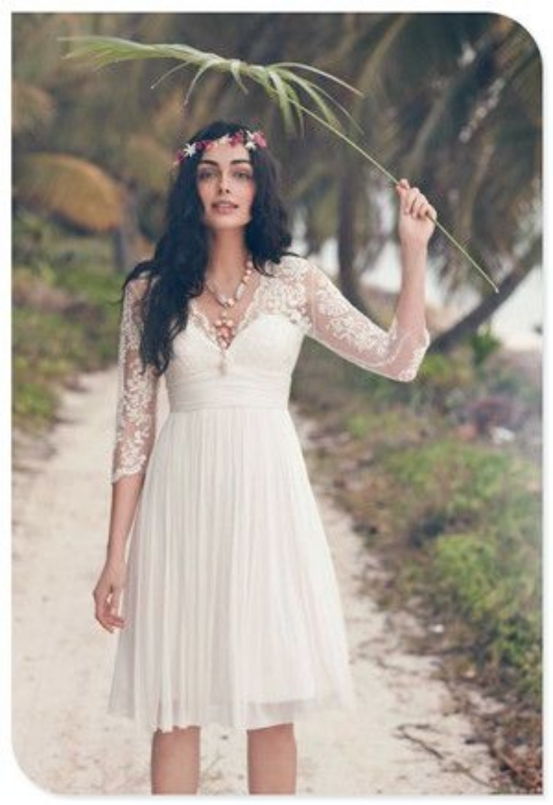 Simple Vintage Lace Wedding Dress : Gallery for gt simple beach wedding dresses with sleeves