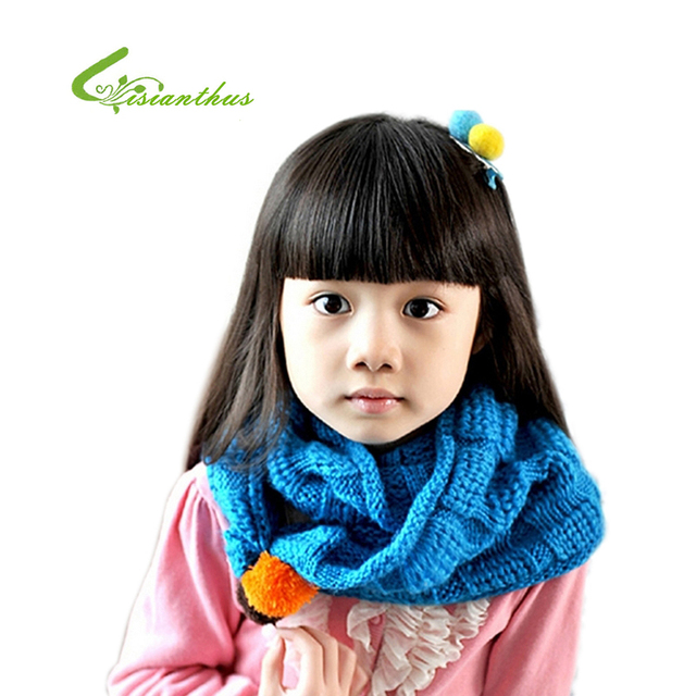 1pc Free Shipping New Style Baby Childen Knitting Scarves Fashion Autumn Winter Warm Soft Girls Scarf 1- 8 Years 7 Colors Gift