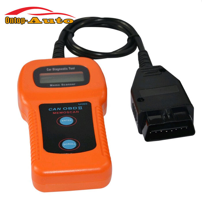 2016 New Car Maintenance Tools LED U480 OBD2 OBDII Auto Engine Fault Code Reader Scanner Diagnostic Tool for Car Vehicle Scan(China (Mainland))