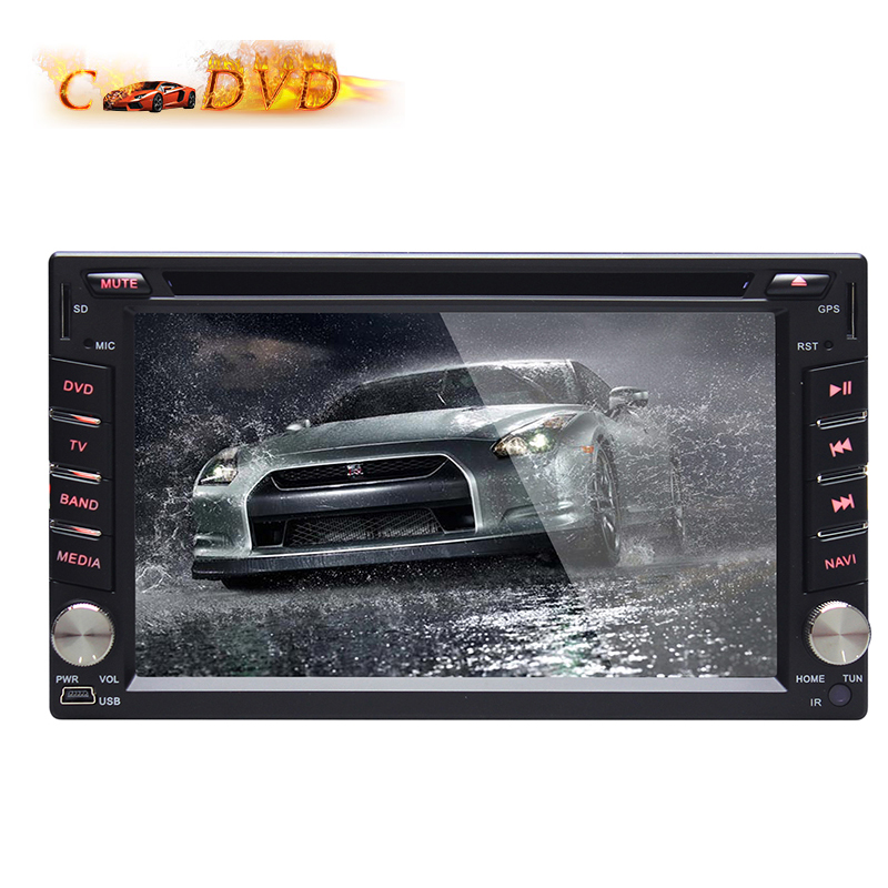 Quad Core 6.2 Inch Universal Car Android 4.4.4 2 Din Car DVD Player GPS Car DVD GPS Navigation Radio Audio 8GB GPS Card With Map(China (Mainland))