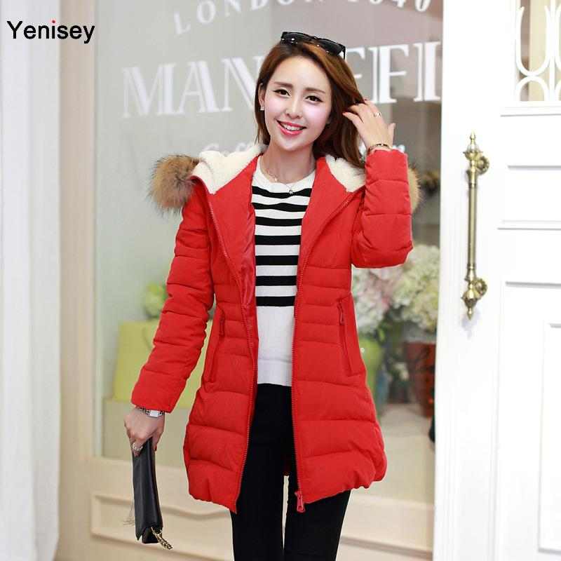Parka Winter Coat Women 2015 New Female Shot Down Jacket Peach Cultivation In The Long Section Of Korean Coat Thickening 0722(China (Mainland))