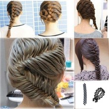 1 PC Women Lady French Hair Braiding Tool Braider Roller Hook With Magic Hair Twist Styling Bun Maker Hair Band Accessories(China (Mainland))