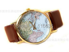 NEW Color World Map Watch Retro watches Women Vintage Casual dress Analog wristwatch Old Fashion Vintage