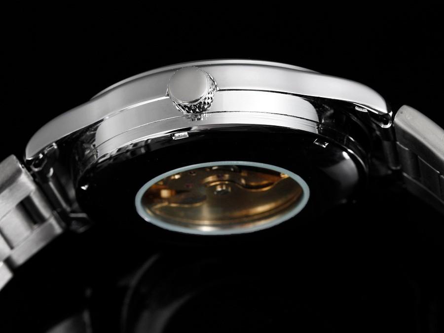 GOER марка человек часы Механические автоматические часы мода мужской наручные часы Водонепроницаемый Световой Скелет Из Нержавеющей Стали спортивные