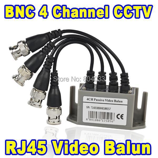 BNC Video Balun UTP Passive Video Balun Transceive 4 Channel RJ45 Network Port CAT5 CCTV BNC Video Balun Transceiver Cable(China (Mainland))