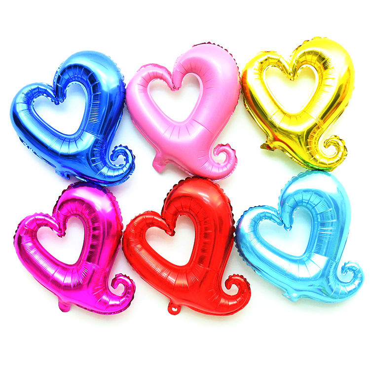 5pcs/lot wedding ballons decoration hook hearted shaped wedding supplies love Valentine's day balloons(China (Mainland))