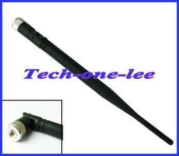 2.4 GHz 5dBi Omni WIFI Booster Wireless Antenna WLAN SMA Plug male connector nickelplated 2M Cable free shipping
